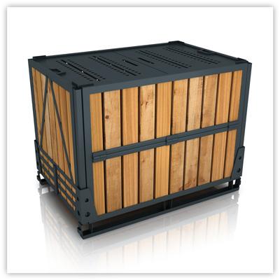 Собранный ящичный поддон УКС-ПЯ-5 (контейнер для хранения) ГОСТ 21133-87