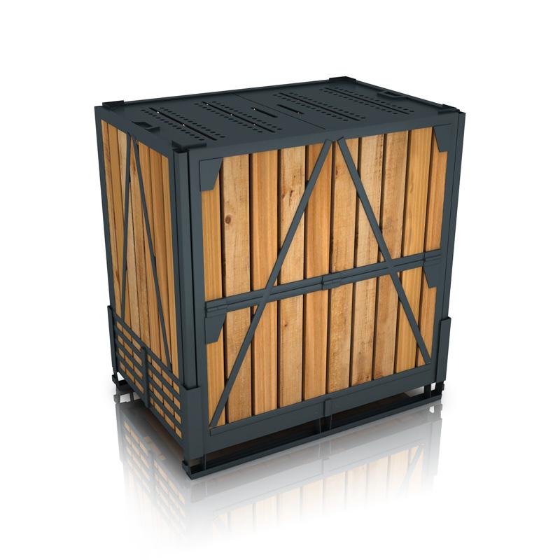 Собранный ящичный поддон УКС-ПЯ-6 (контейнер для хранения) ГОСТ 21133-87