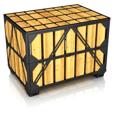 Собранный ящичный поддон УКС-ПЯ-7 (контейнер для хранения) ГОСТ 21133-87